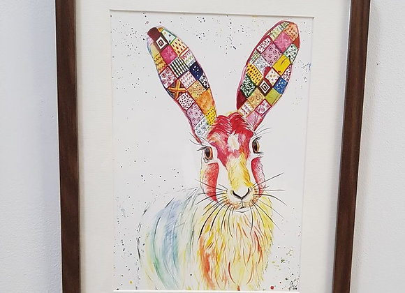 Harriet the Hare Original Art Print