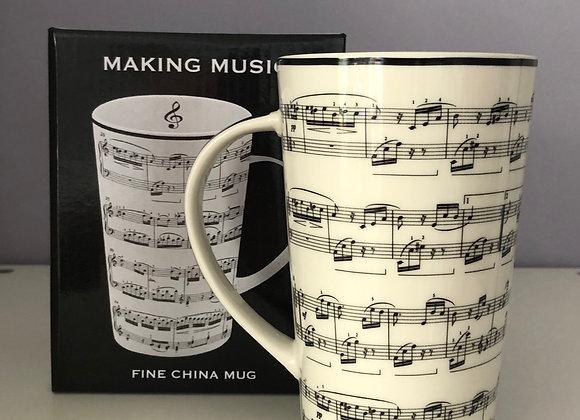 Musical Score Latte Mug