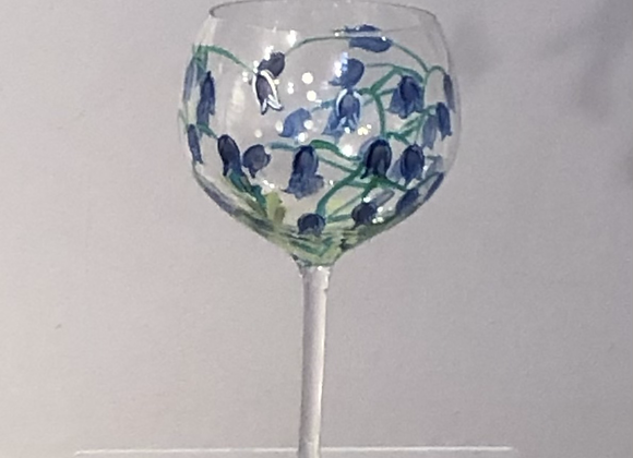 Hand Painted Bluebell Gin Goblet