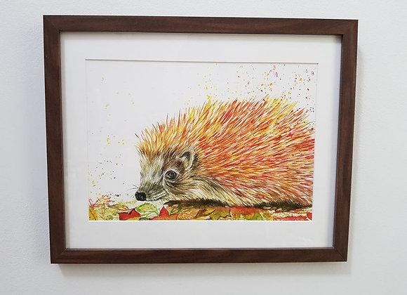 Hazel the Hedgehog Original Art Print