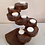 Thumbnail: 8 Tier Recycled Teak Tea Light Holder