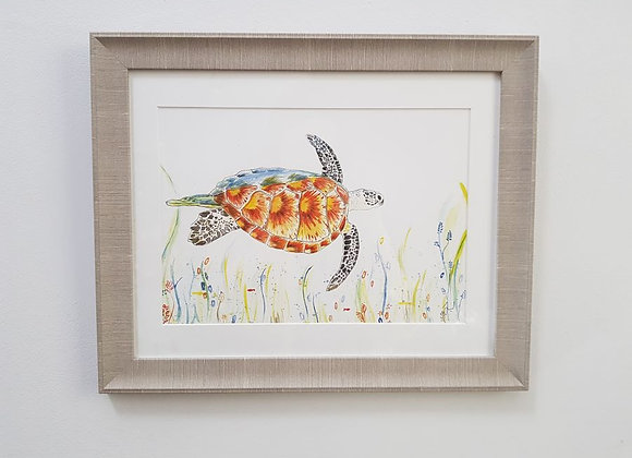 Tranquility the Turtle Original Art Print