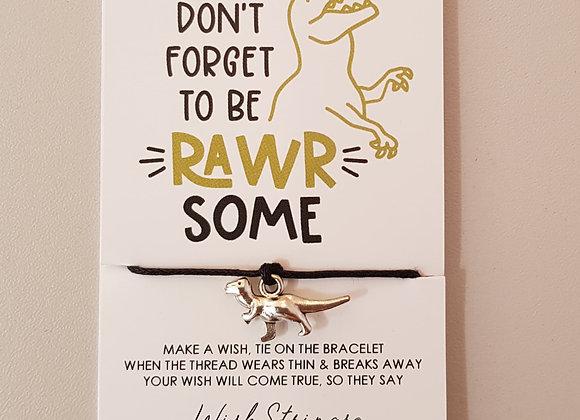 Dinosaur Charm Bracelet