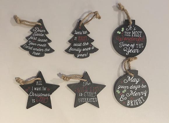 Small Slate Christmas Signs