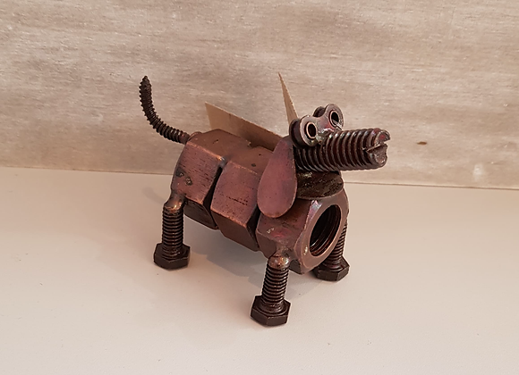 Recycled Copper Nuts and Bolts Dachshund Dog