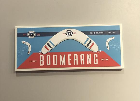 Retro Wooden Boomerang