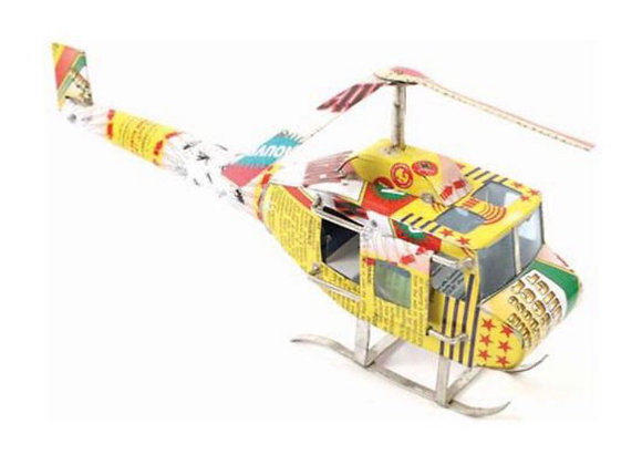 Recycled Can Helicopter