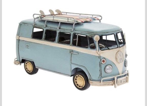 Vintage Light Blue VW Campervan