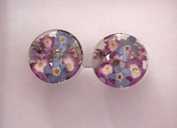 Purple Haze Silver Cufflinks