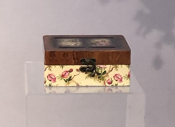 Vintage Look Victorian Flower Jewellery Box