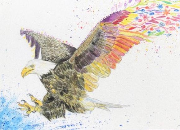 Evie the Eagle Original Art Print