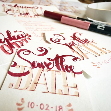 caligraphie mariage