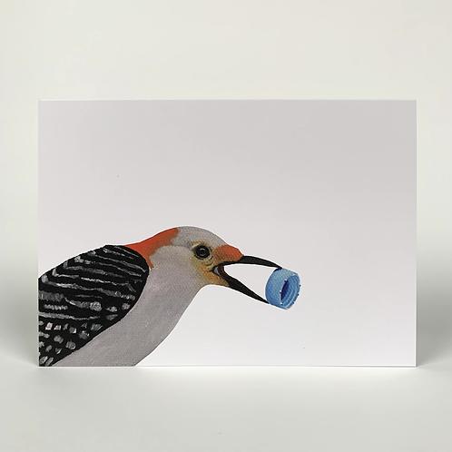 Flicker With Bottle Cap Blank Note Card