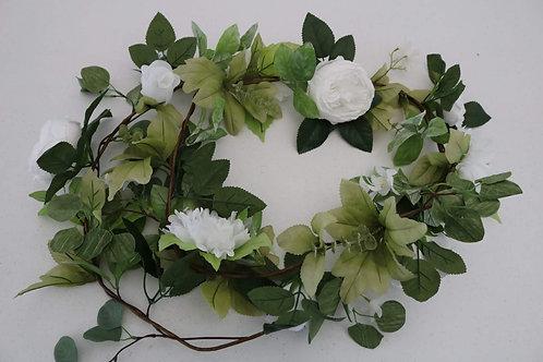 White Large Flower Garland