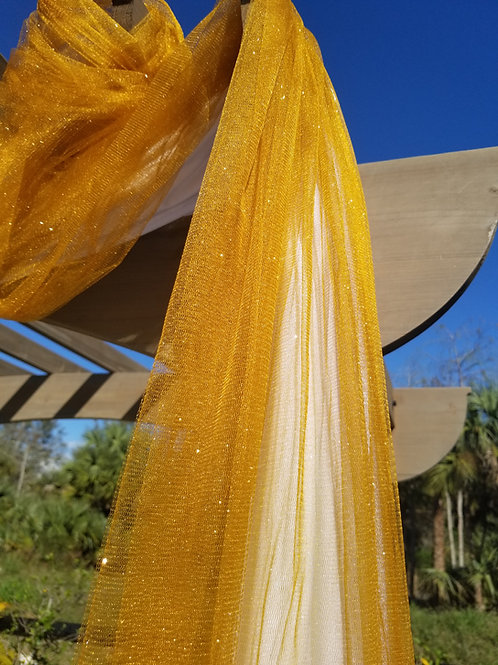 Sheer Gold Arbor Drape Accent