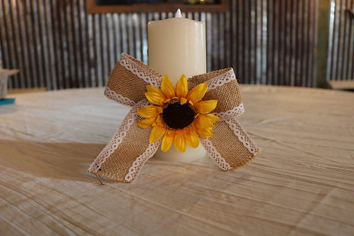Burlap Sunflower Bows