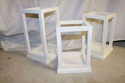 White Boxed Centerpieces