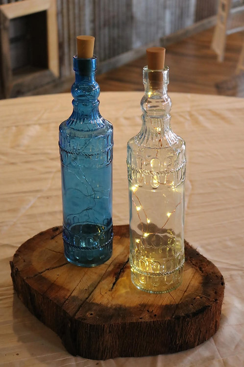Glass Wine Bottles With Fairy Lights