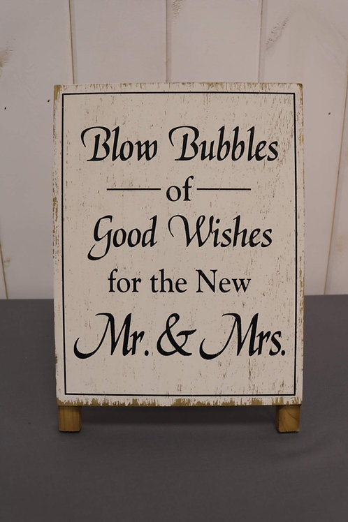 Bubbles of Good Wishes Sign