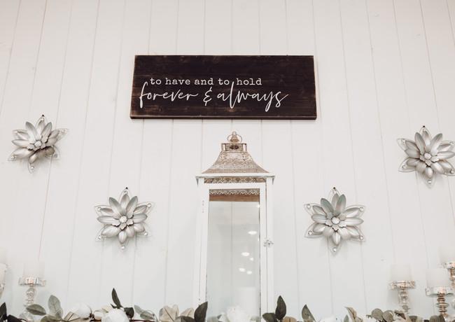 Bride's Room Decor