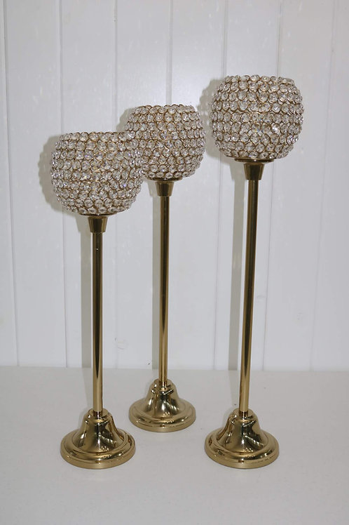 Tall Gold Candle Holders