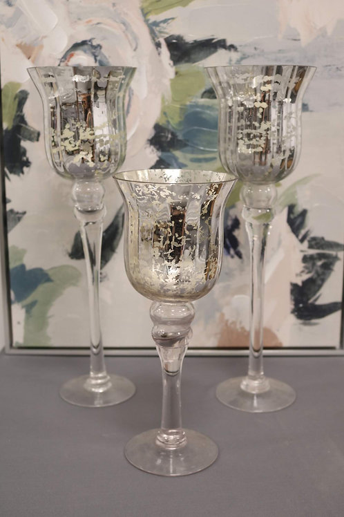 Mercury Glass Head Table Candle Holders