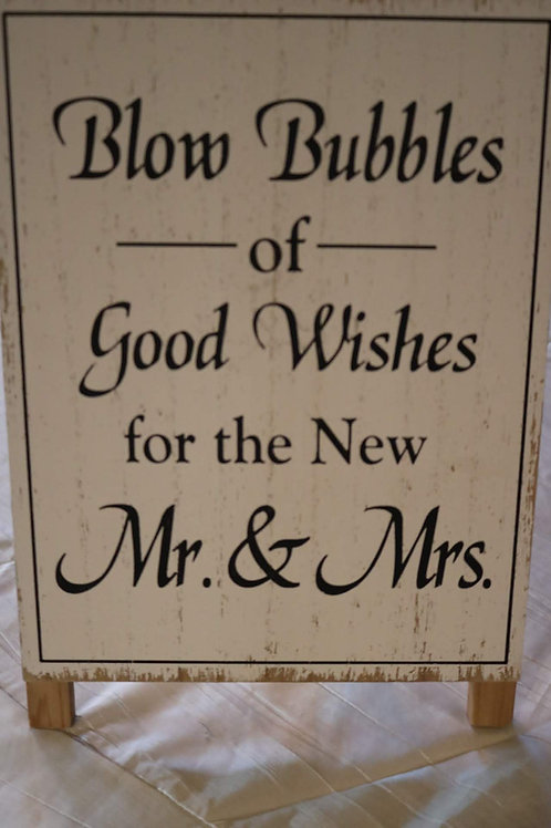 """Good Wishes Bubbles"" Sign"