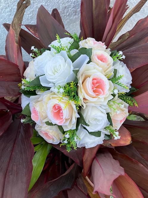 Peach & White Floral Bouquet