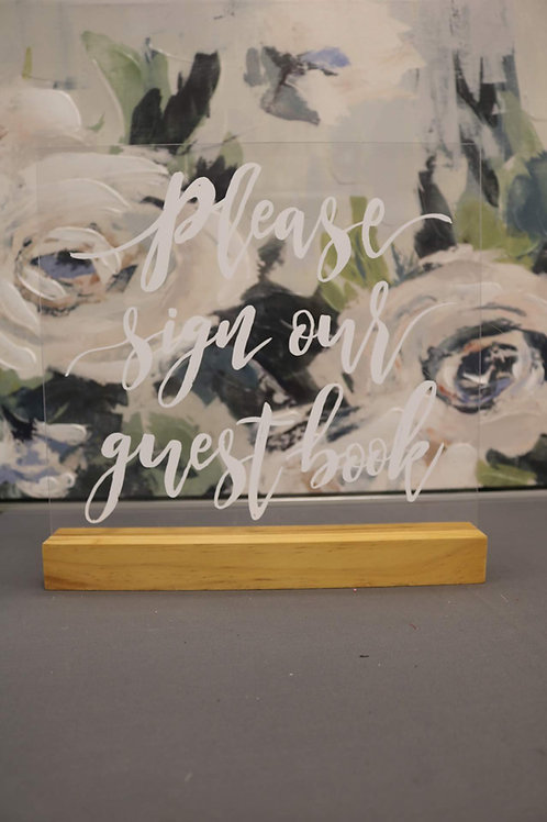 Clear Guestbook sign