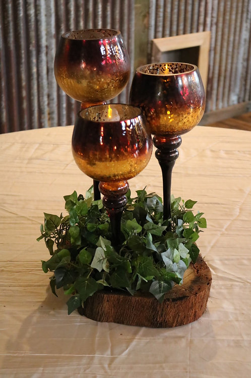 Red and Gold Candle Holders