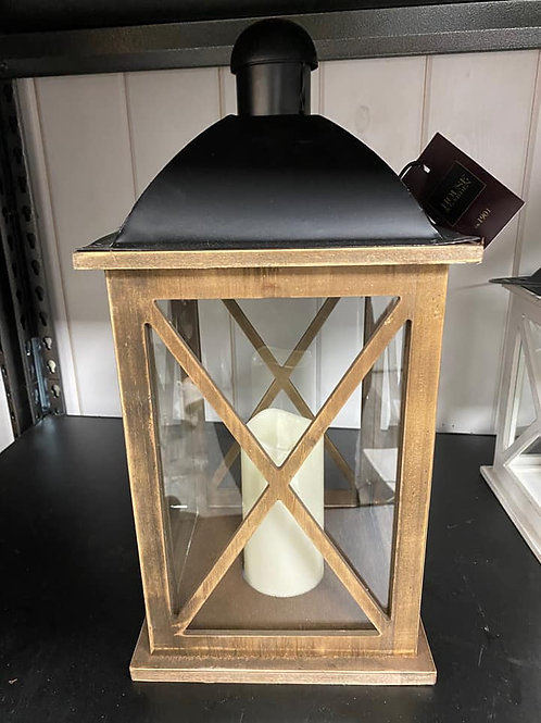 Large Brown Wooden Lanterns