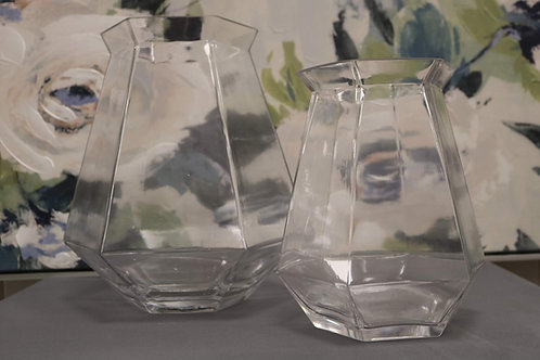 Hexagonal Clear Vases