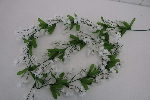 White Small Flower Garland