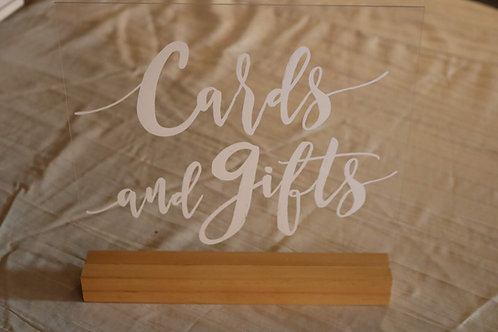 Clear Card & Gift Sign