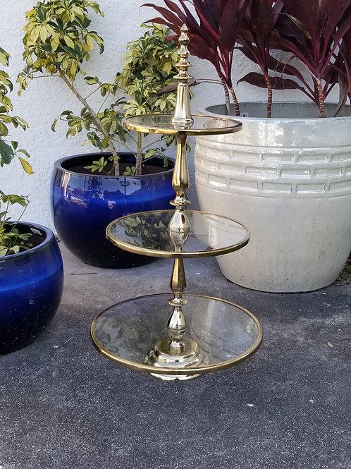 3-Tiered Gold Dessert Stand