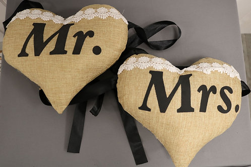 Heart Shaped Mr. & Mrs. Sign