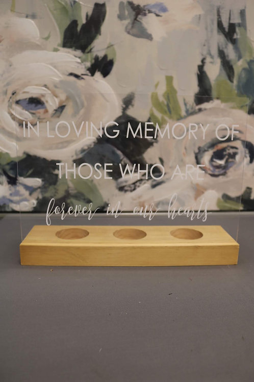 Clear In Loving Memory Sign