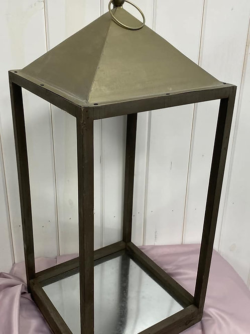 Extra Large Dark Brown Wooden Lantern