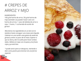 Receta Abril....Crepes de arroz y mijo con queso quark y frutos rojos