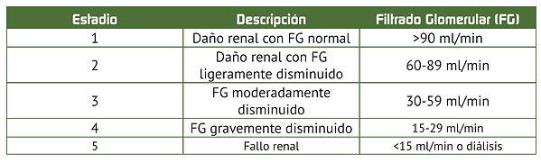 valores normales de insuficiencia renal