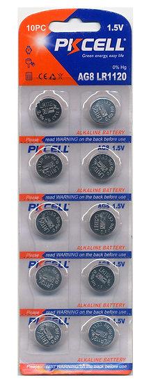PKCELL AG8 / LR55 Alkaline Button Batteries