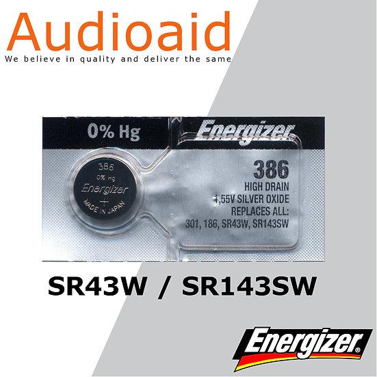 Energizer SR43SW/W SR Batteries Mercury Free