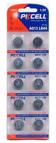 PKCELL AG13 / LR44 Alkaline Button Batteries