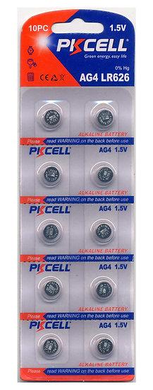 PKCELL AG4 / LR626 Alkaline Button Batteries