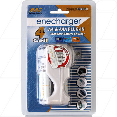 overnight Charger including 2 AAA batteries