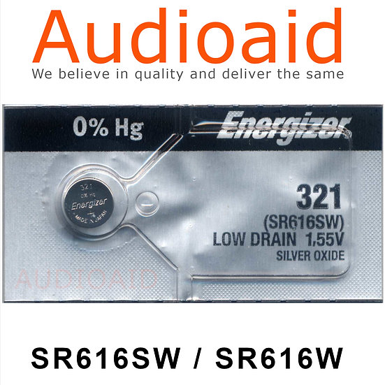Energizer SR616SW/W SR Batteries Mercury Free