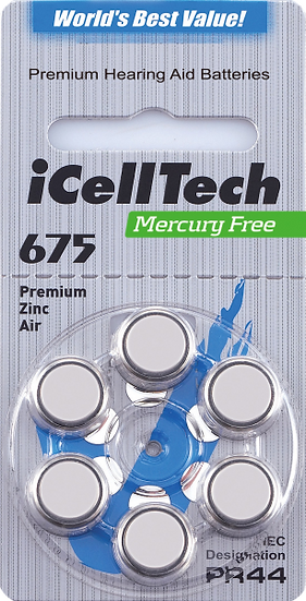 IcellTech Hearing Aid Batteries Size 675