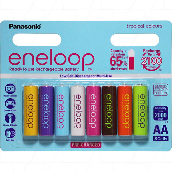 Eneloop rechargeable AA battery 8 pack