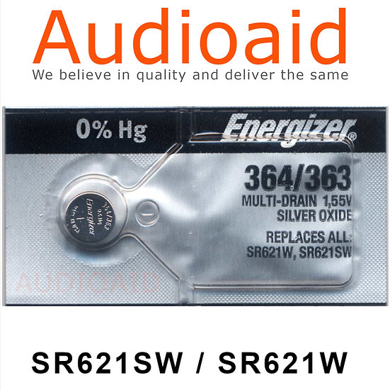 Energizer SR621SW/W SR Batteries Mercury Free
