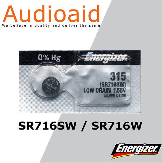 Energizer SR716SW/W SR Batteries Mercury Free
